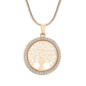 Jewelry - NWT Yellow Gold CZ Family Tree Of Life Necklace